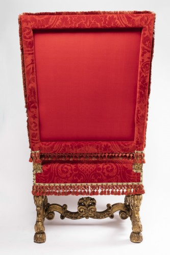 17th century - Two wide armchairs Louis XIV period