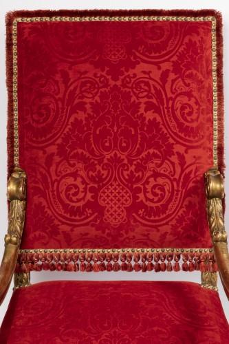 Louis XIV - Two wide armchairs Louis XIV period
