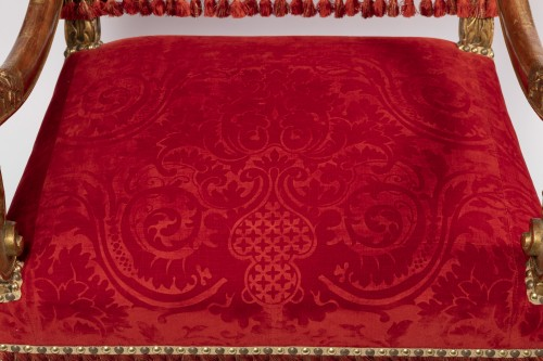 Antiquités - Two wide armchairs Louis XIV period