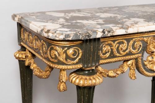 Consoles pair late 18th century - Furniture Style Louis XVI