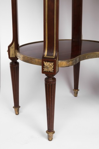 Restauration - Charles X - Mahogany bedside tables pair 19th century