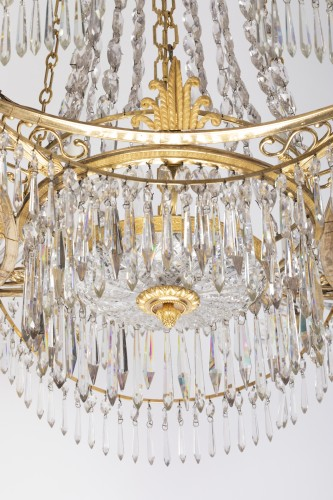 12 lights chandelier Neoclassical period -