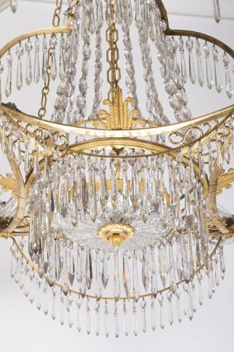 12 lights chandelier Neoclassical period - Directoire
