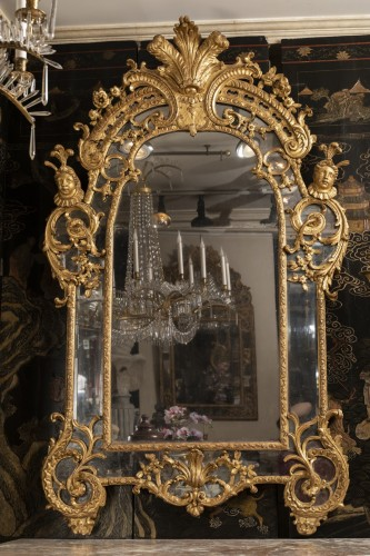 Antiquités - French Régence mirror 18th century