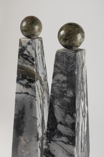 Curiosities  - Marble obelisks pair late 18th/early 19th century