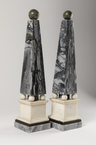 18th century - Marble obelisks pair late 18th/early 19th century
