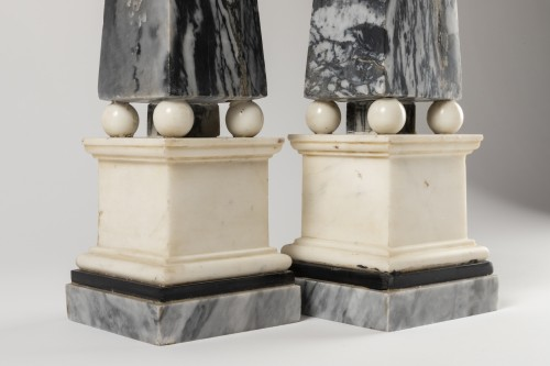 Marble obelisks pair late 18th/early 19th century - Directoire