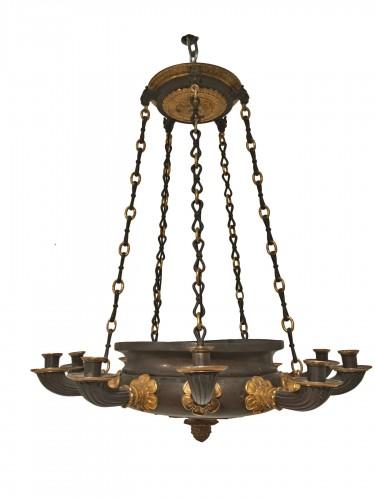 Ten lights chandelier Restauration period circa 1820