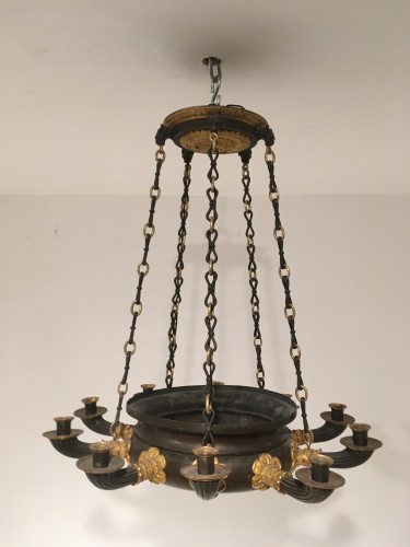 Ten lights chandelier Restauration period circa 1820 - Lighting Style Restauration - Charles X