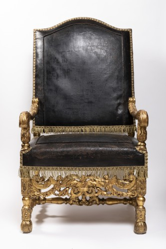Armchairs pair Louis XIV period circa 1650 - Seating Style Louis XIII