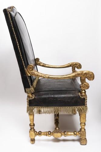 Seating  - Armchairs pair Louis XIV period circa 1650