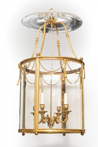 Big lantern Louis XVI period late 18th century - Lighting Style Louis XVI