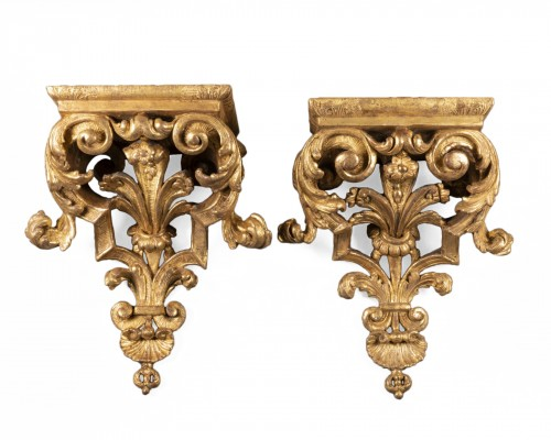 Large pair of  Louis XIV wall brackets