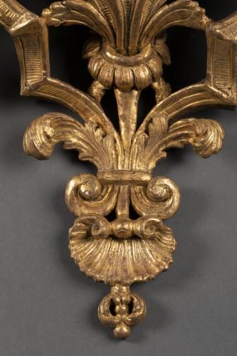 Louis XIV - Large pair of  Louis XIV wall brackets