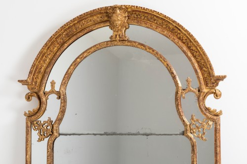 Mirrors, Trumeau  - Régence mirror and his two wall brackets 18th
