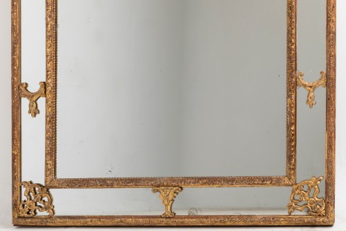 Régence mirror and his two wall brackets 18th -