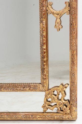 18th century - Régence mirror and his two wall brackets 18th