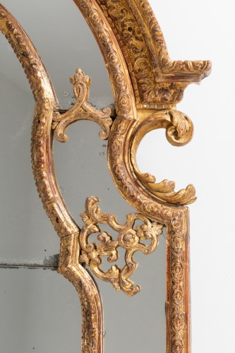 French Regence - Régence mirror and his two wall brackets 18th