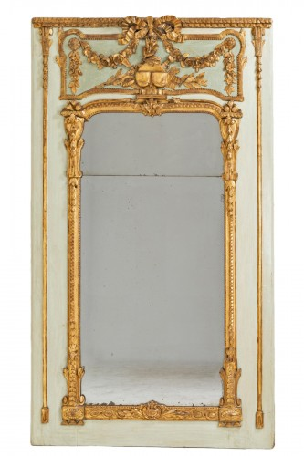 Trumeau mirror Louis XVI period late 18th