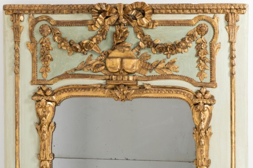 Trumeau mirror Louis XVI period late 18th - Mirrors, Trumeau Style Louis XVI