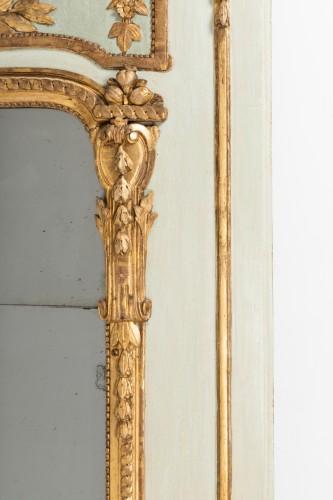 18th century - Trumeau mirror Louis XVI period late 18th