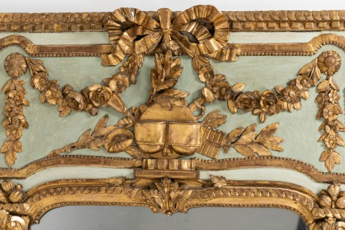 Louis XVI - Trumeau mirror Louis XVI period late 18th