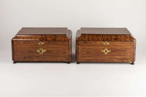 Boxes pair Régence period 18th century - Objects of Vertu Style French Regence