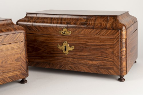 18th century - Boxes pair Régence period 18th century