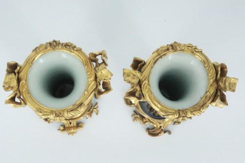 "Decorative Objects  - Porcelain ""cornet"" vases pair mid 18th century"