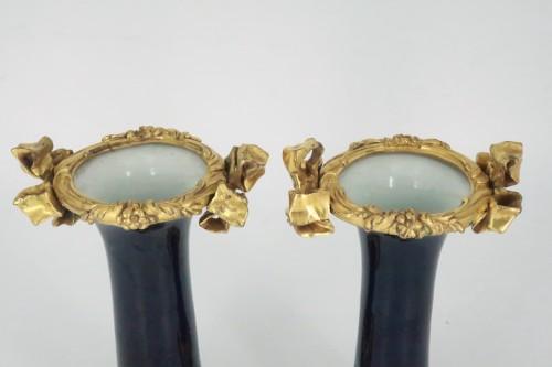 "Porcelain ""cornet"" vases pair mid 18th century - Louis XV"
