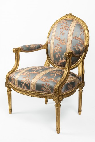 Set of four armchairs Louis XVI period late 18th century - Seating Style Louis XVI