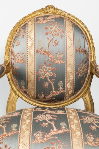 Seating  - Set of four armchairs Louis XVI period late 18th century