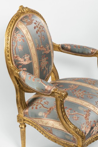 Set of four armchairs Louis XVI period late 18th century - Louis XVI