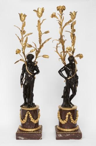Lighting  - Big candelabras pair Louis XVI period late 18th century