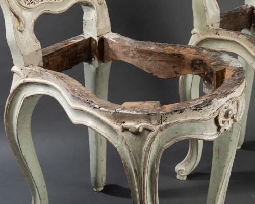 "Seating  - ""voyeuses"" chairs pair Louis XV period stamped AVISSE"
