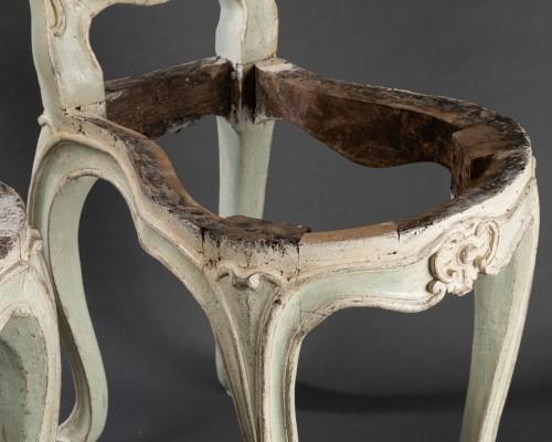 """voyeuses"" chairs pair Louis XV period stamped AVISSE -"