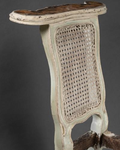 "18th century - ""voyeuses"" chairs pair Louis XV period stamped AVISSE"