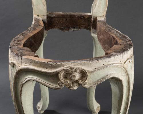 "Louis XV - ""voyeuses"" chairs pair Louis XV period stamped AVISSE"