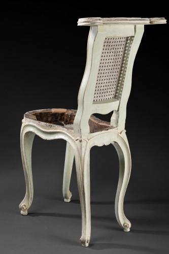 """Antiquités - """"voyeuses"""" chairs pair Louis XV period stamped AVISSE"""