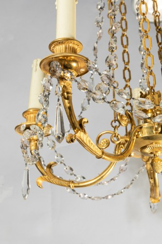 Five lights small chandelier Directoire period late 18th -