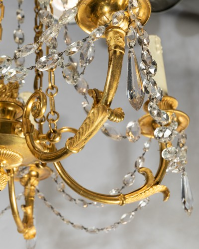 18th century - Five lights small chandelier Directoire period late 18th