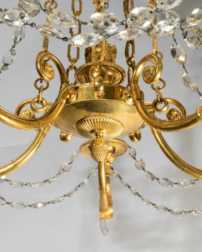 Five lights small chandelier Directoire period late 18th - Directoire