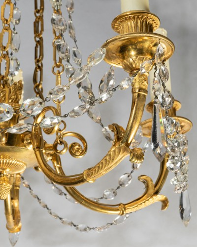 Directoire - Five lights small chandelier Directoire period late 18th