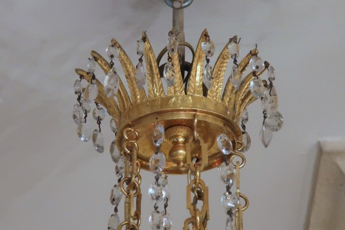Antiquités - Five lights small chandelier Directoire period late 18th
