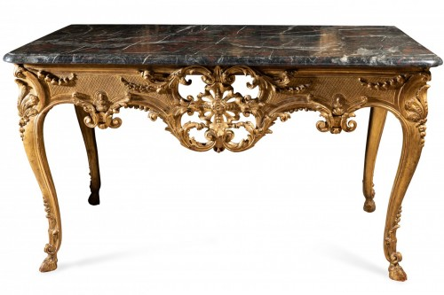 Wide Régence console 18th century