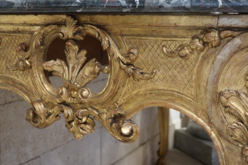 Wide Régence console 18th century - French Regence