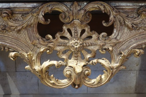 Antiquités - Wide Régence console 18th century