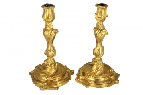 Candlesticks pair Louis XV period mid 18th century