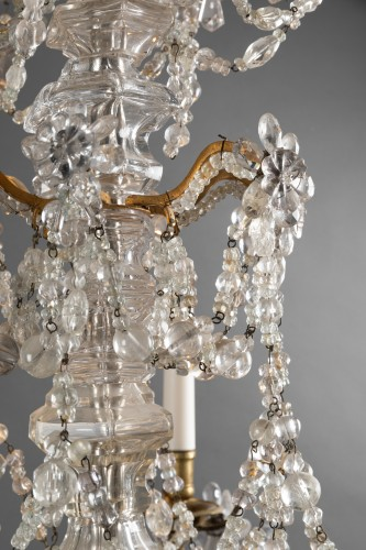 Crystal and rock crystal chandelier mid 18th century - Louis XV