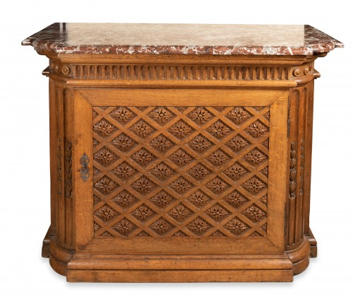 "Carved oak ""buffet"" Louis XIV period"